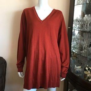 NWT Asos Burnt Orange Long Sleeve Tunic Sweater